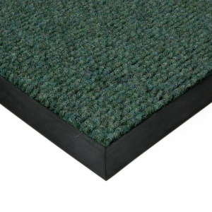 Zelená textilní zátěžová čistící rohož Catrine