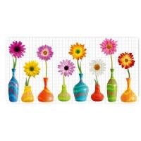 PVC 3D obkladová folie Grace, květiny, 7984