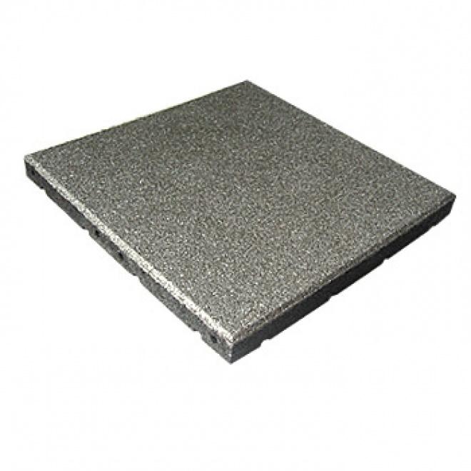 Pryžová dlažba MFL čtverec SBR, pro terasy, šedá