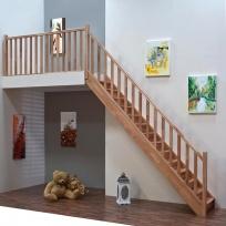 Přímé schodiště Minka Home - buk, 850x3000mm