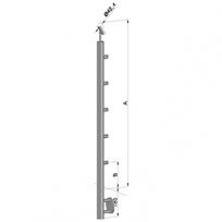 Schodišťový sloupek - boční kotvení, 5 prutů vnitřních, EB1-BHZ5-2