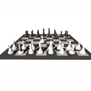 Pryžová herní plocha 4x4m - Šachy