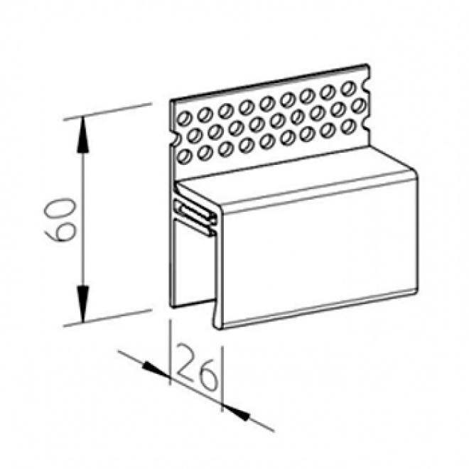 Ventilační profil vinyPlus V2125