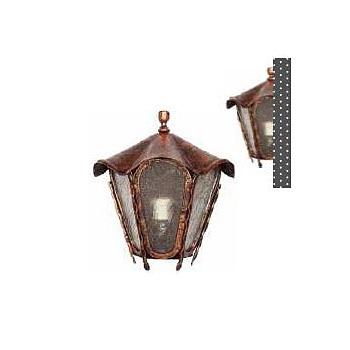 Kovaná nástěnná lucerna, LM005, měděná patina