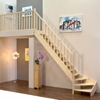 Lomené schodiště Minka Classic - smrk, 850x3000mm