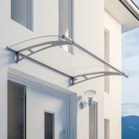 Nerezová vchodová stříška Lightline 150 x 95 cm