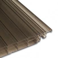 Click 16mm, polykarbonátová deska se zámkem, 0,25x4m, bronz