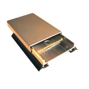 Zaklapávací krycí lišta, 60mm/6m, elox