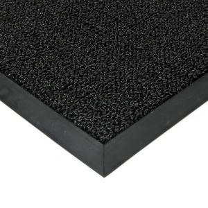 Černá plastová zátěžová vstupní čistící rohož Rita