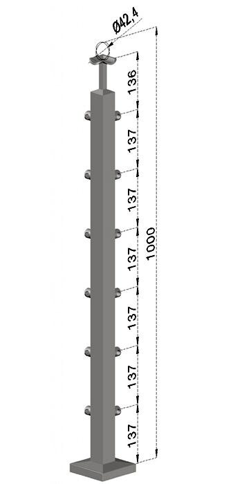 Rohový sloupek, hranatý - horní kotvení, 6 prutů, EB1-JVHU6-1