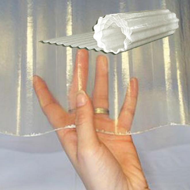 Sklolaminátová vlnitá role Uniroll 76/18 čirá - UV