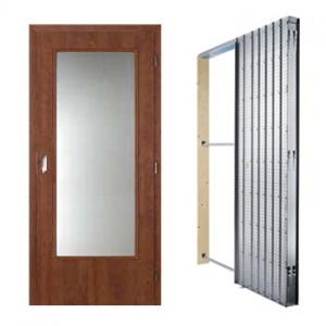 Posuvné dveře Masonite sklo 3/4, sada