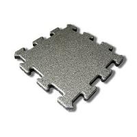 Protipádová pryžová dlažba Puzzle A, SBR, šedá