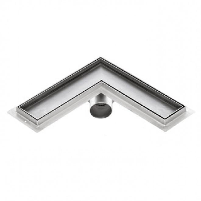 Sprchový žlab rohový pro obklad, KFLm, 600x600mm