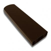 PVC plotový profil, 008, palisandr