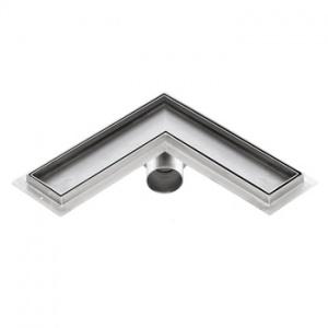 Sprchový žlab rohový pro obklad, KFLm, 300x300mm