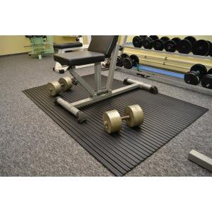 Černá fitness rohož