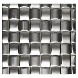 Plech černý - lisovaný vzor tkanina 3D, I PFEZ4/12