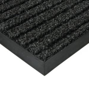 Černá textilní zátěžová čistící rohož Shakira