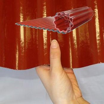 Sklolaminátová vlnitá role, neprůhledná, Uniroll 76/18 červená