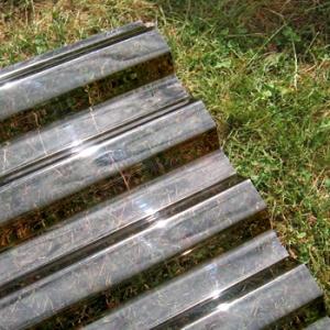 Polykarbonátová trapézová deska Decopol, bronz 76/18 mm