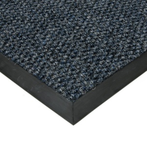 Modrá textilní zátěžová vstupní čistící rohož Fiona