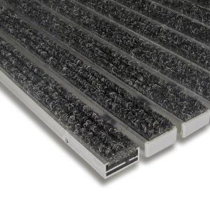 Textilní hliníková čistící vnitřní vstupní rohož Alu Standard - 100 x 100 x 1,7 cm
