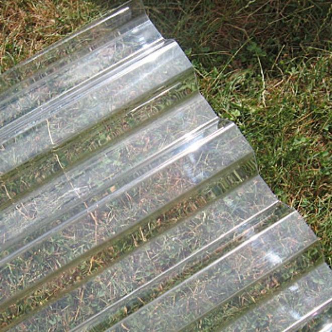 Polykarbonátová trapézová deska Decopol, čirá 76/18 mm