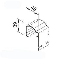 Ukončovací profil VinyTec V2112, 45x40mm