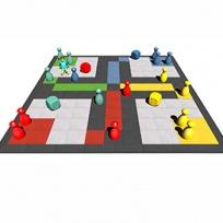 Pryžová herní plocha 5,5x5,5m - Člověče nezlob se!