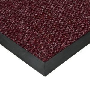 Červená textilní zátěžová vstupní čistící rohož Fiona
