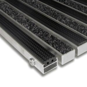 Hliníková textilní gumová čistící vnitřní vstupní rohož Alu Standard - 100 x 100 x 2,2 cm