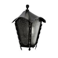 Kovaná nástěnná lucerna, LM005, černá