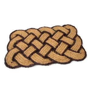 Kokosová vstupní rohož Jumbo Rectangle Brown - 75 x 45 x 3,5 cm