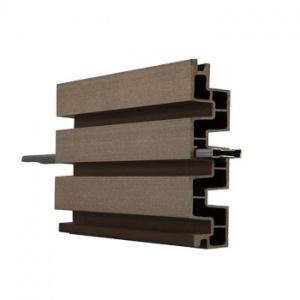 WPC lamelová deska Duo Fuse, DF4B20, tropicky hnědá