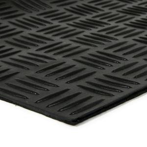 Gumová schodová rohož Criss Cross - 75 x 25 x 0,5 cm
