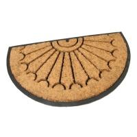Gumová kokosová vstupní půlkruhová rohož Rays - 75 x 45 x 2,2 cm