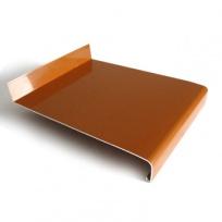 Hliníkový parapet venkovní tažený - světle hnědý, tl. 1,5-2,8mm