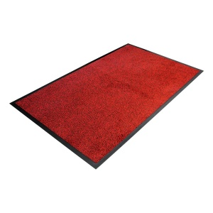 Červená textilní čistící vnitřní vstupní rohož