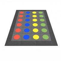 Pryžová herní plocha 2x3m - Twister