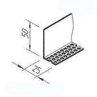 Zakládací profil VinyTec V5002, 25x50mm
