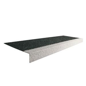 Bílo-černá karborundová schodová hrana