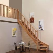 Lomené schodiště Minka Classic - buk, 850x3000mm