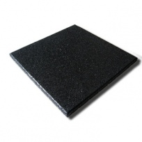 Pryžová dlažba MFL čtverec SBR, pro terasy, černá
