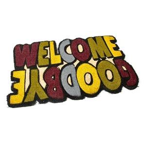 Kokosová vstupní rohož Welcome - Goodbye - 75 x 45 x 1,7 cm