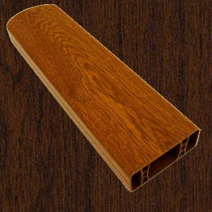 PVC foliovaná plotovka, 2089, tmavý dub