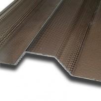 Polykarbonátová trapézová deska Decopol Plus, bronz 76/18 mm