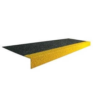 Černo-žlutá karborundová schodová hrana