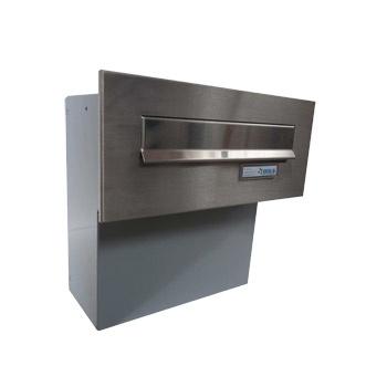 Nerezová poštovní schránka schránka Dols, F04, do face bloku