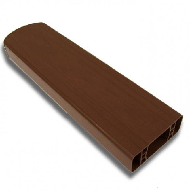 PVC plotový profil, 154, ořech